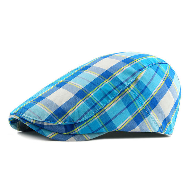 9a6a77101 High Quality Vintage Plaid Newsboy Caps Hats For Men Women Painter Ivy Cap  Adult Unisex Cabbie Beret-in Newsboy Caps from Men's Clothing & Accessories  ...