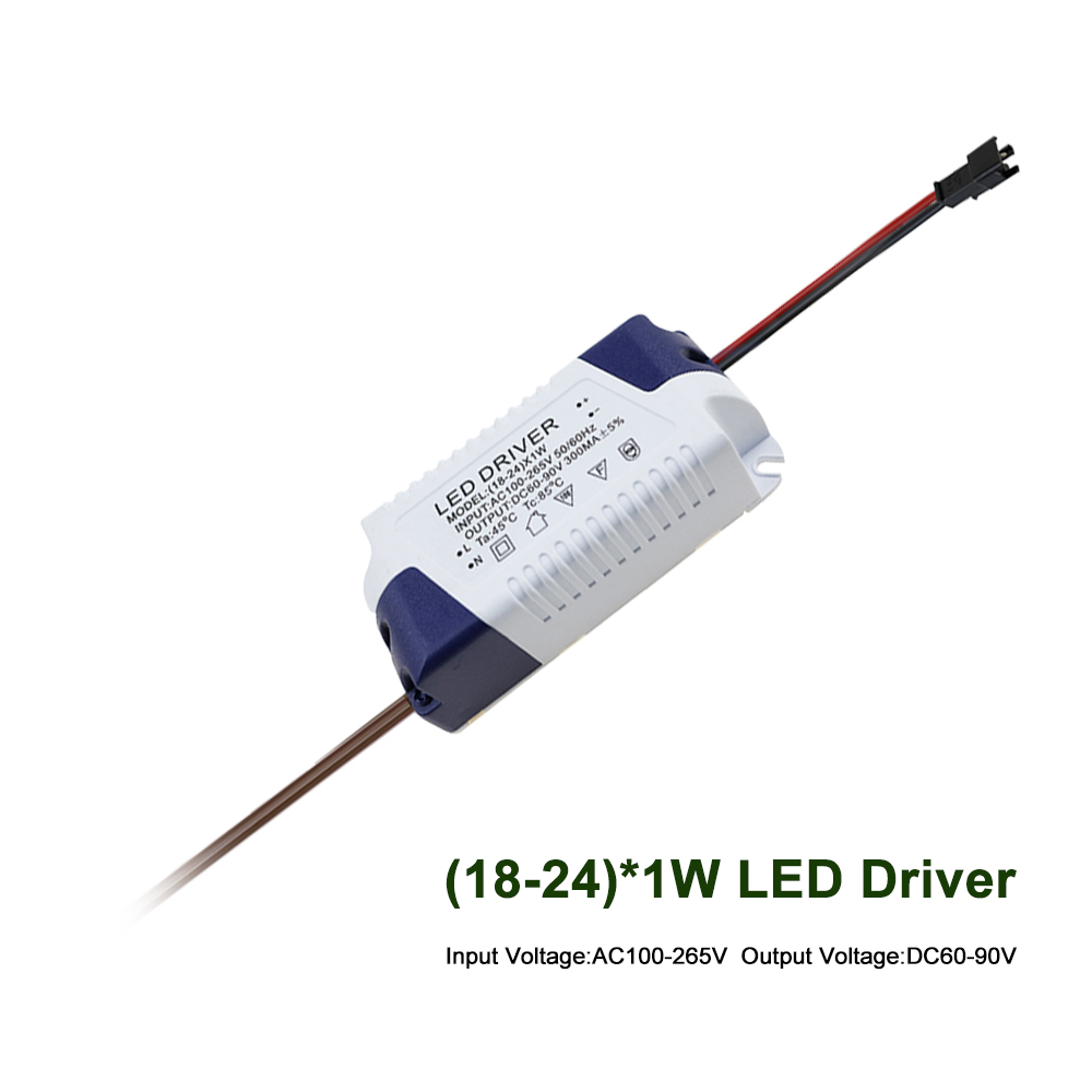 LED Driver (18-24)*1W Power Supply Input AC100-265V Output DC60-90V 300mA LED External Driver for LED Lamp AC100V 220V JQ