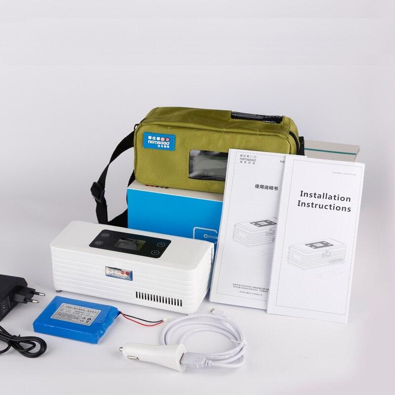 Micro pharmacie medicool récipient refroidisseur thermoélectrique insuline diabétique réfrigérateur sang réfrigérateur esky glacière voyage
