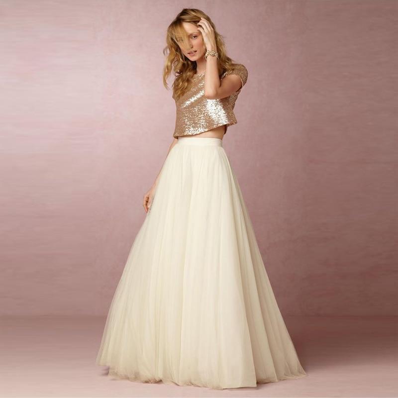 5 Layers Maxi Long Skirt Soft Tulle Skirts Cream Ivory Wedding Bridesmaid Tutu Skirt Plus Size