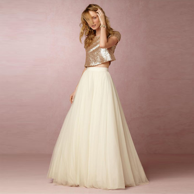6cb42d37d7 5 Layers Maxi Long Skirt Soft Tulle Skirts Cream Ivory Wedding Bridesmaid Tutu  Skirt Plus Size Faldas Saias Femininas Jupe