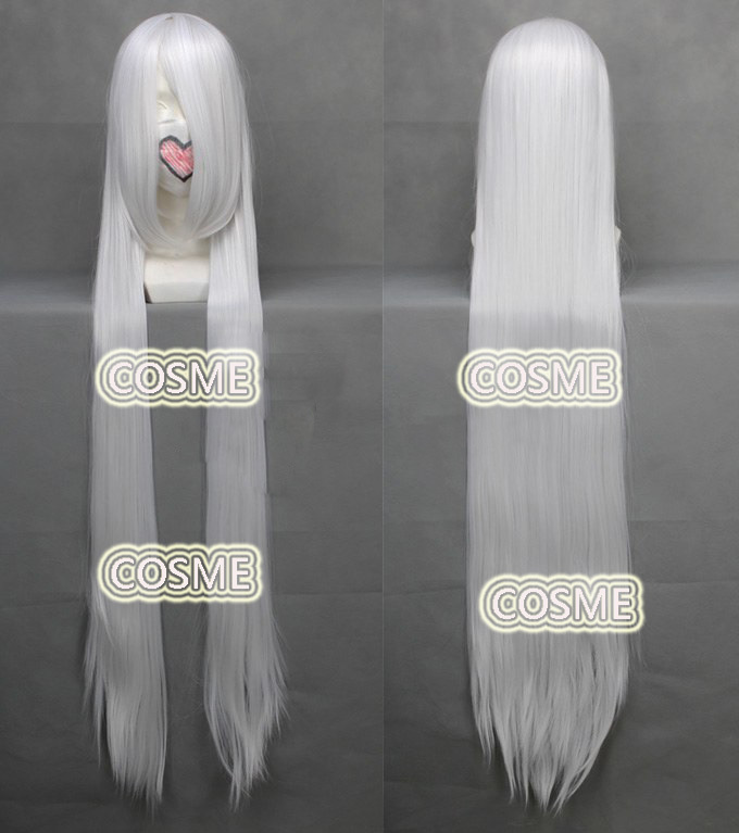 Anime Hitman Reborn HitmanReborn Superbia Squalo cosplay wig 120cm White Long Straight Synthetic Hair - COSME WIGS store