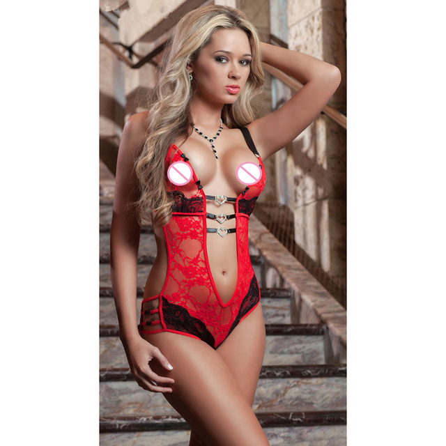Free Shipping Hot Women Sexy Lingerie Back Sexy Teddy Exotic Apparel Lace Pajamas Porn Bodysuit Porn Underwear Sexual Clothing