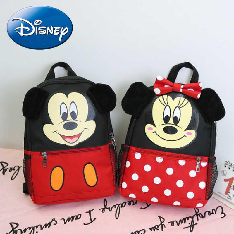 78d51be51e 2018 Disney High Quality Girl Kid School Backpack Cartoon Mickey Boy Canvas  Backpacks Kindergarten Minnie Child