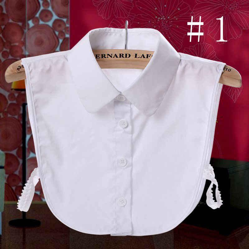 Колье ожерелье женское ложное воротник ложная половина рубашки отстегиваемая блузка хлопок кружево