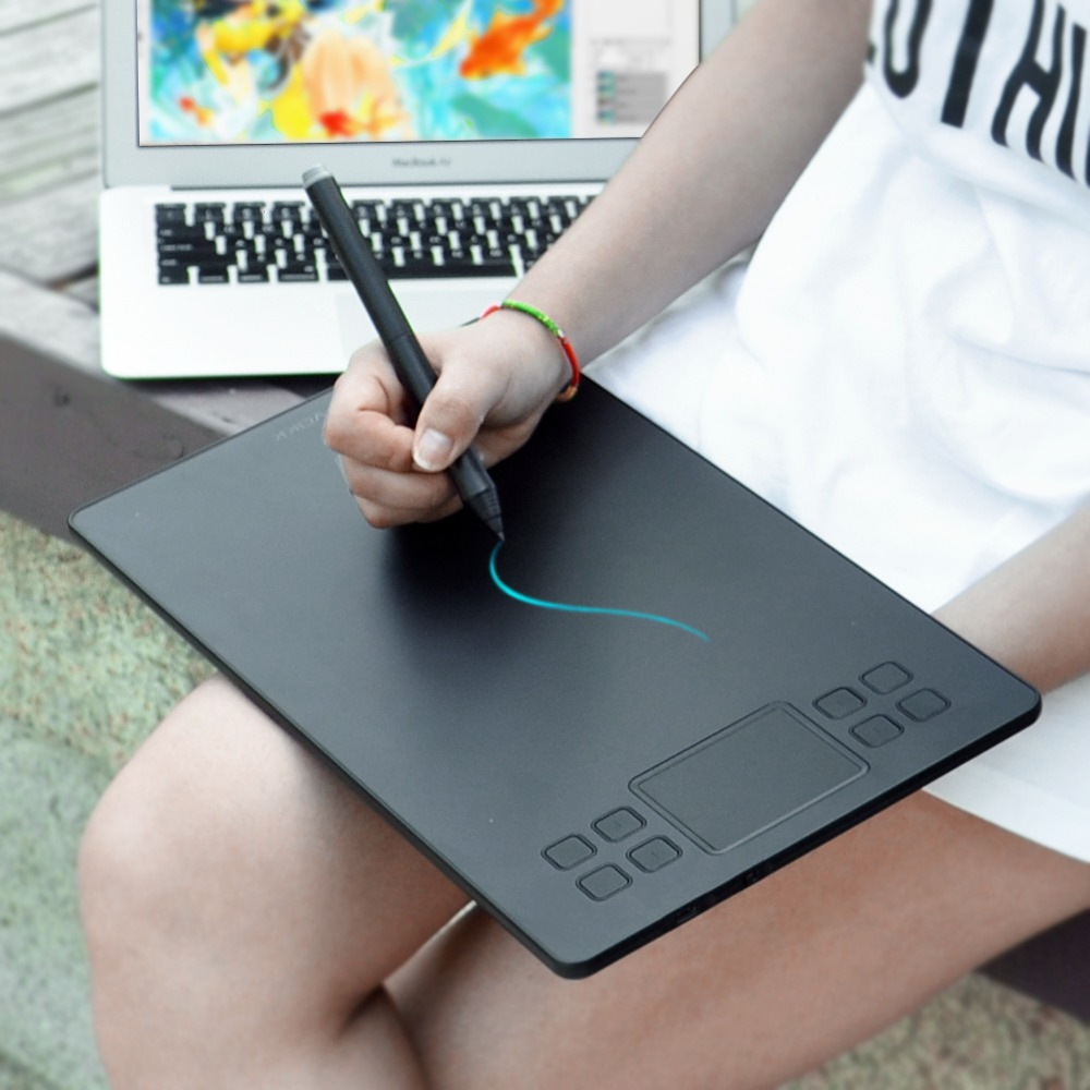 Drawing Tablet Veikk A50 Digital Pen Tablet With 8192 Levels Passive Pen Compatible With Most Drawing Softwares