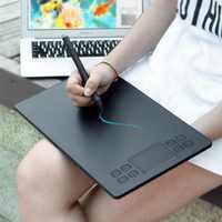 Tablet de desenho veikk a50 caneta digital tablet com 8192 níveis caneta passiva compatível com a maioria dos softwares de desenho