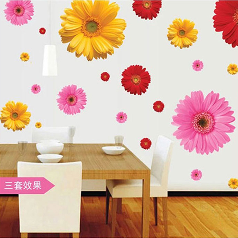 Diy Colorful Rooms: Flower Wall Stickers Living Room Home Decorations