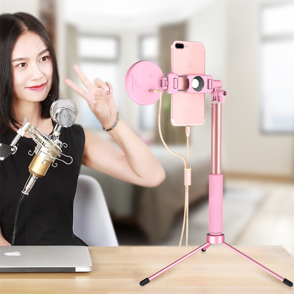 Dimmable LED Selfie Ring Light Youtube Video Live 3200k Photo Studio Light With Phone Holder USB Plug With Selfie StickTripod