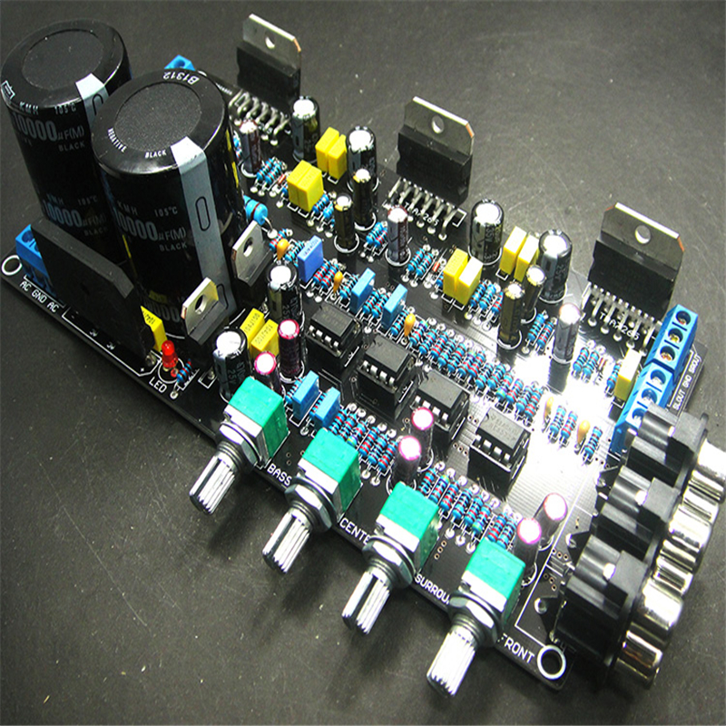 TDA7265 5.1 Finished Power Amplifier Board Subwoofer Home Theater 6-Channel HIFI Audio and Video Fever