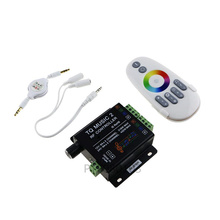 1 pcs DC12-24V 18A RGB Music 2 Controller RF Remote Intelligent Sonic Sensitivity Led Backlight for Strip
