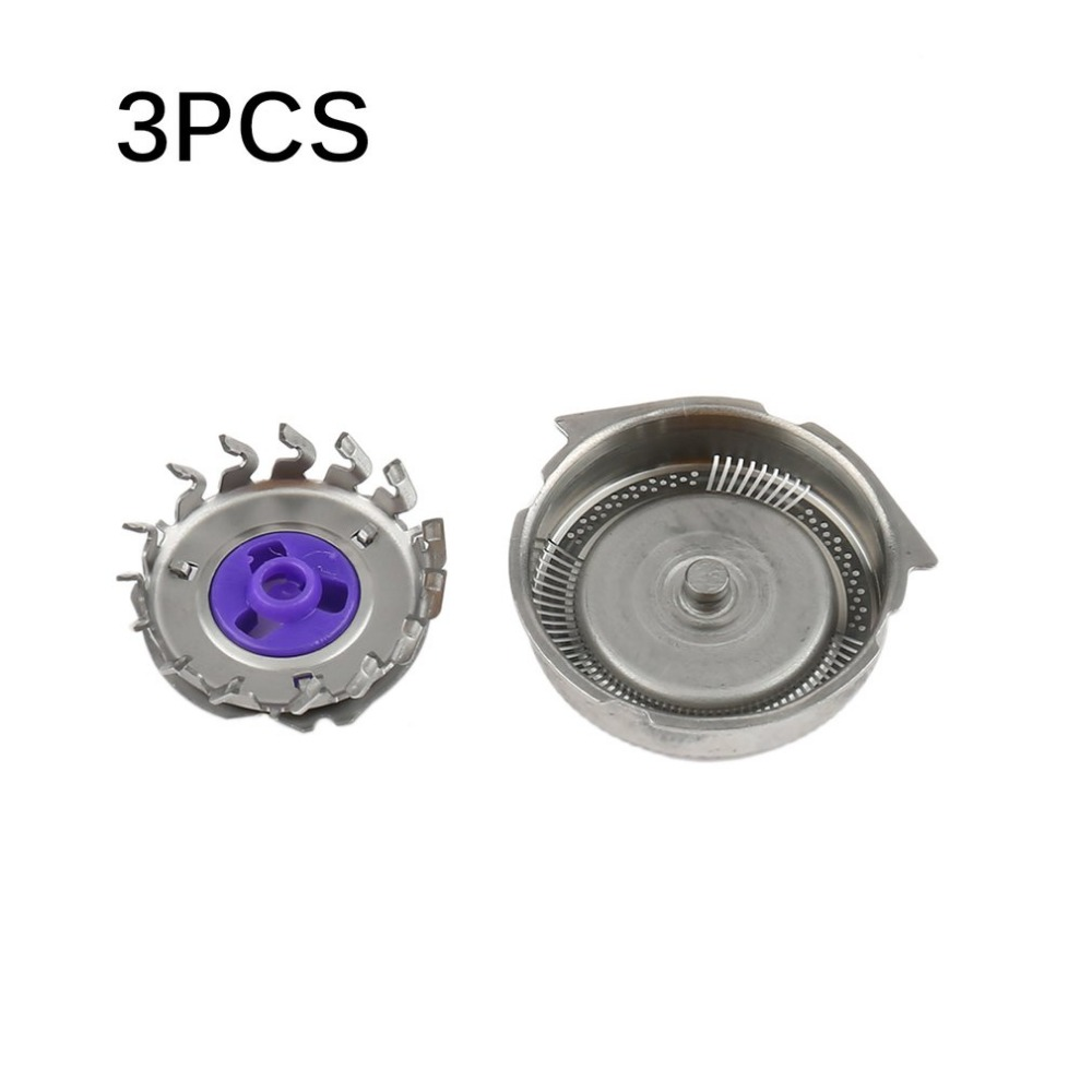 3PCS/SET Professional Replacement Shaver Head Blades Cutters Suitable for Philips Norelco Electric Razor HQ8 Silver 3pcs replacement shaver head for philips norelco hq3 hq56 hq55 hq442 hq300 hq916 hq5426 hq5430 hq5625 razor blade