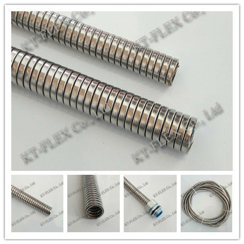 Interlocked flexible cable conduit electrical wire protection hose ...