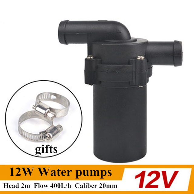 12V 24V 12W Winter Automatic Electric A/C Heater Car Water Pumps Strengthen A/C Heating Accelerate Water Circulation Pump