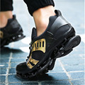Lâmina de cunha 2017 Mulheres moda casual couro sapatos de Caminhada Ao Ar Livre Net Não-slip Escalada shoes chaussure homme sapato masculino