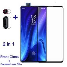 2 in 1 koruyucu cam için Xiaomi Mi 9T Pro ekran koruyucu kamera Lens filmi redmi k20 pro tam kapak cam mi9 t mi9t