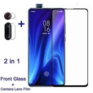 Image 1 - 2 in 1 koruyucu cam için Xiaomi Mi 9T Pro ekran koruyucu kamera Lens filmi redmi k20 pro tam kapak cam mi9 t mi9t