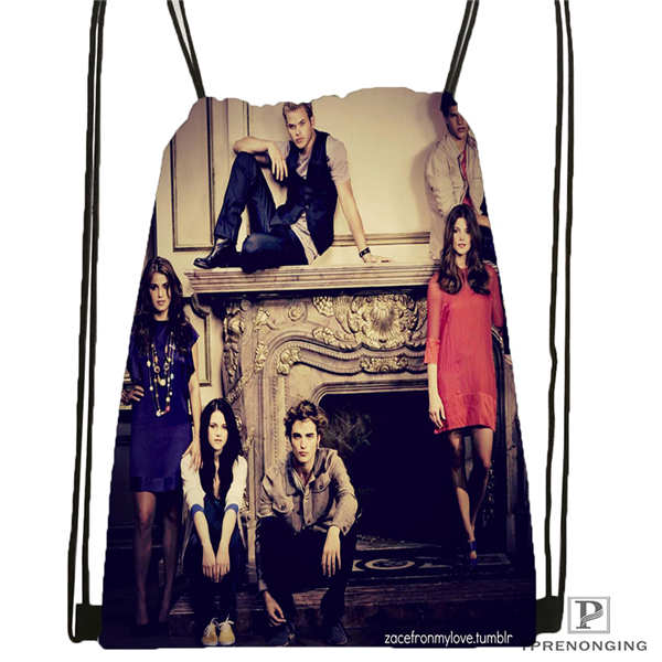 Custom Twilight-vampires-@01-Drawstring Backpack Bag Cute Daypack Kids Satchel (Black Back) 31x40cm#180611-03-128