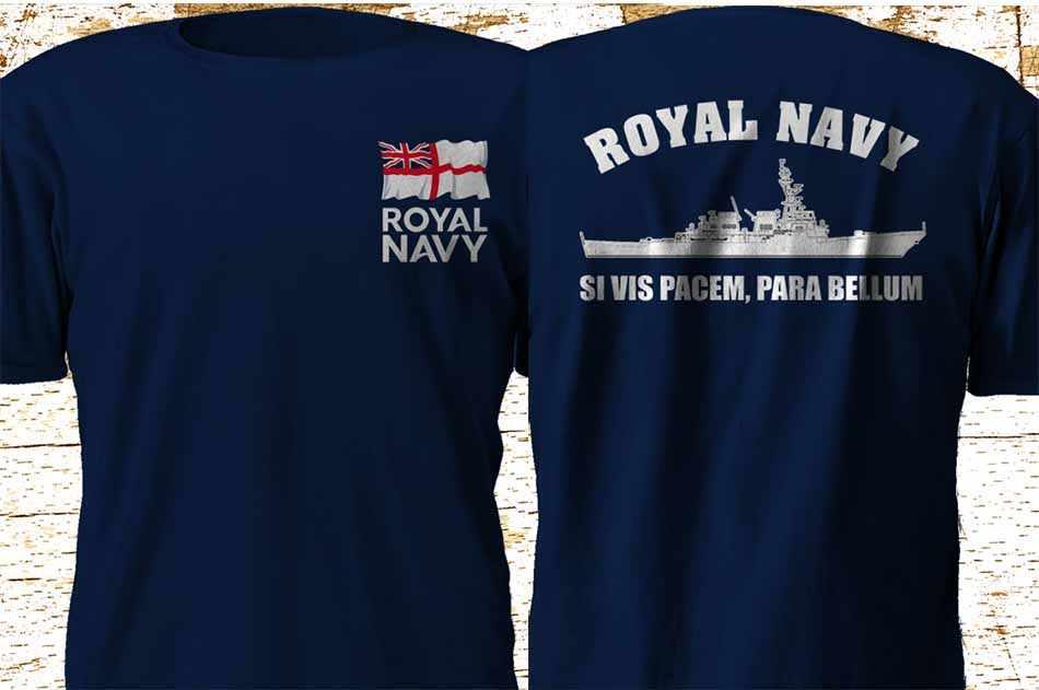 Homme Marines T-shirt ROYAL NAVY MARINE MARIN UK militaire américaine à manches courtes Tee