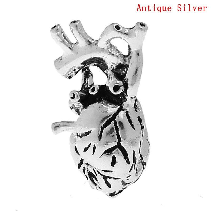 ≧Doreen caja caliente-encanto Colgantes corazón anatómico humano ...