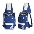 2016 New Men Backpack Bags for High School Cool School Backpacks with Adjustable Hat Shoulder Bag Girls Boys Backpack
