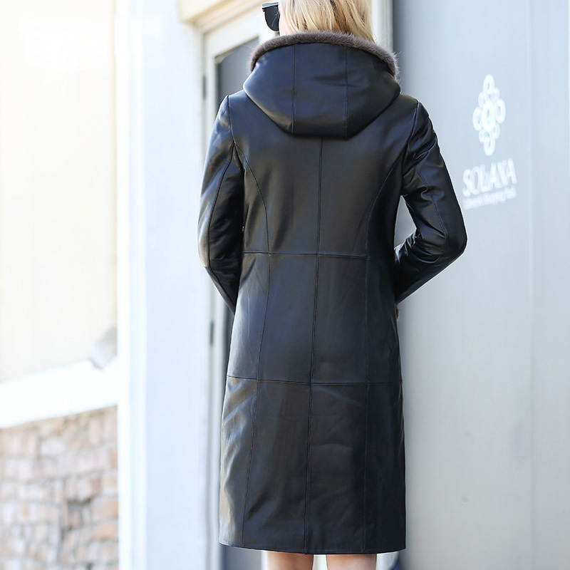 Hoodies Femmes As Réel Cuir Longues Dame Long Manteaux 2018 À Mouton Veste En De Nouvelles Chaud Hiver Pictuer Manches Peau Véritable wxCqS7