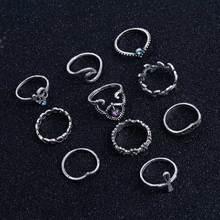 Flower Cross Rings Set