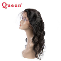 Queen Hair Products Brazilian Human Hair Weave Bundles Pre Plucked Body Wave 360 Lace Frontal Closure With Baby Hair Remy Hair