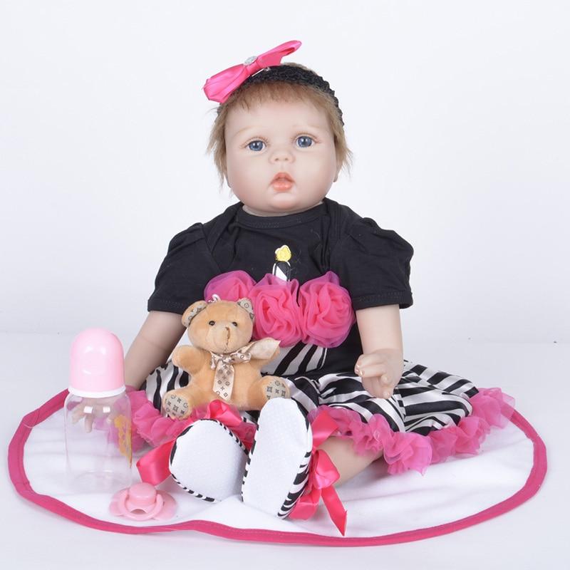 Reborn Silicone Dolls Newborn Doll Toys for Girls Children Gift Reborn Bebe Bonecas Tsum Tsum SB5546 Kids Toys Reborn Babies warkings reborn