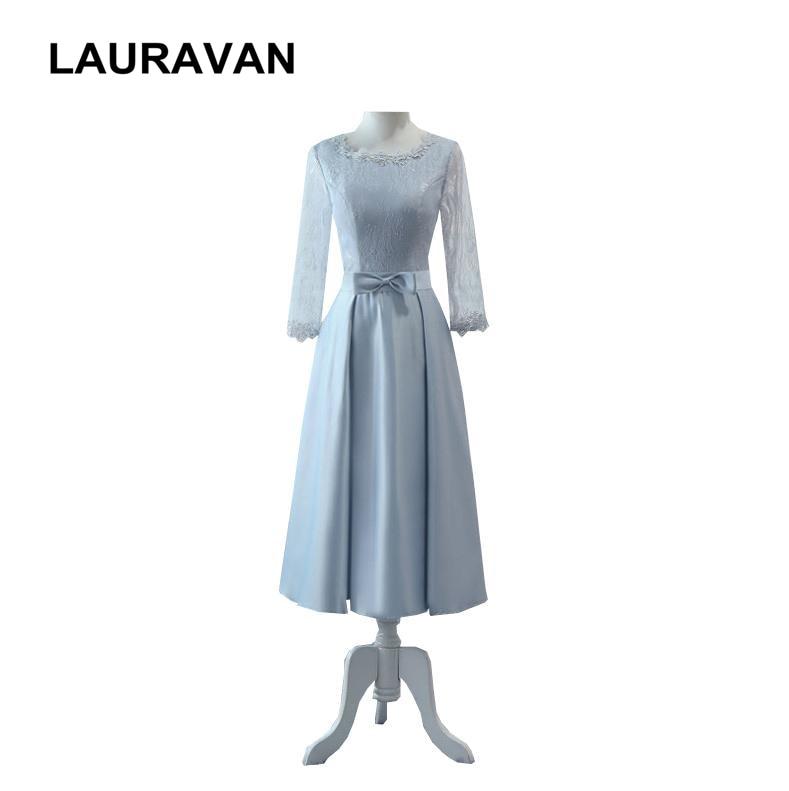 vestido latest burgandy cheap semi formal beautiful modest bridesmaid  dresses girls grey lace sleeves dress woman wedding 689dd8bd8f62