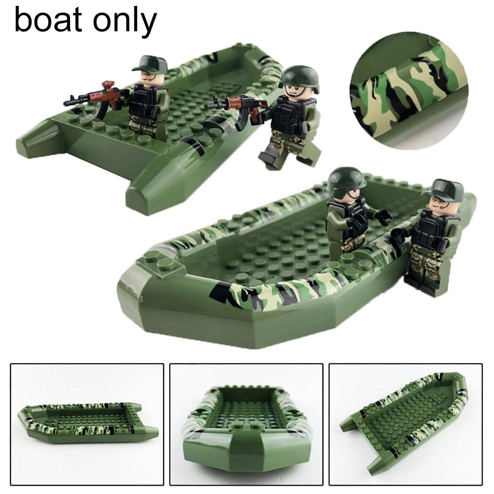 12Pcs/Set Special Forces Soldier with Weapons Building Blocks Boat Kids Toy Legoings Armed SWAT Building Blocks Kids Toys