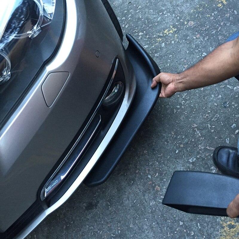 1 par Deflector delantero del coche palas del alerón del parachoques del coche difusor del divisor de la pala delantera decorativo ala resistente a los arañazos