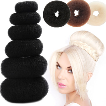 Hair Donut Bun Maker Magic Foam Sponge Easy Big Ring Updo DIY Hair Styling Tools Products For Hair Accessories Women fashion magic hair tools foam sponge device quick messy donut bun hairstyle girl women hair flower accessories chiffon headband