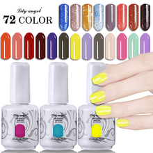 Lily angel 15ML Soak Off UV LED Nail Gel Polish Long-lasting Vernis Semi Permanent Colorful 72 Colors NO.49-72