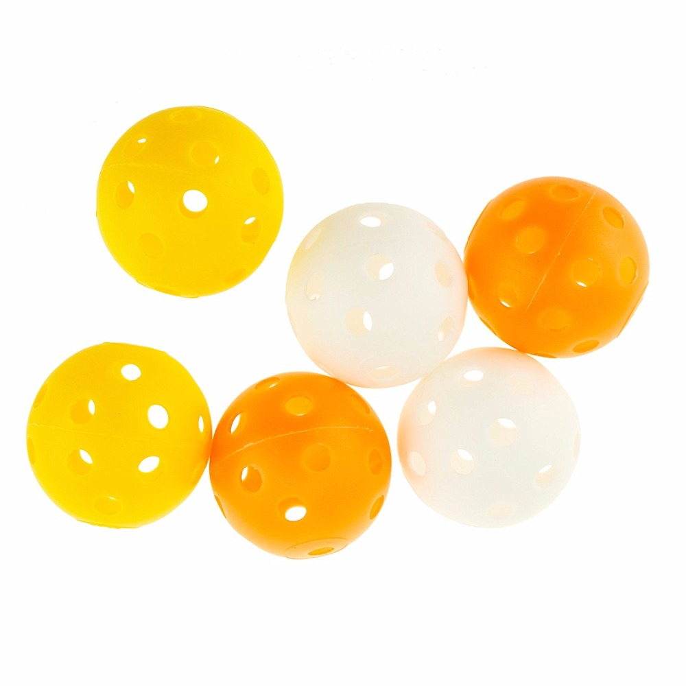 Caiton plastic golf Practice Training Sports Hollow balls 6piece/pack