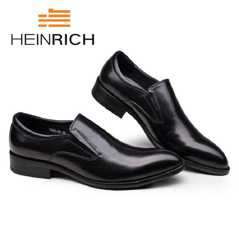 HEINRICH Loafers Solid Men Leather Shoes Men Fashion Personality Vintage Shoes Slip-On Set Genuine Leather Men Shoes SapatosHEINRICH Loafers Solid Men Leather Shoes Men Fashion Personality Vintage Shoes Slip-On Set Genuine Leather Men Shoes Sapatos