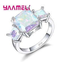 ФОТО yaameli vintage jewelry ring 925 sterling silver ab colored mystic zircon stone fashion jewelry for charming lady women gifts