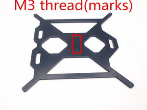 Image 2 - Funssor الألومنيوم Prusa i3 MK2 Y لوحة النقل دعم اللون الأسود