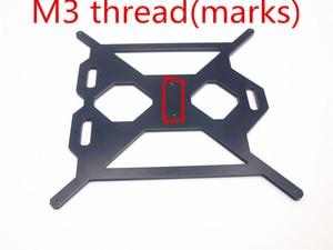 Image 2 - Funssor aluminium Prusa i3 MK2 Y support de plaque de chariot couleur noire