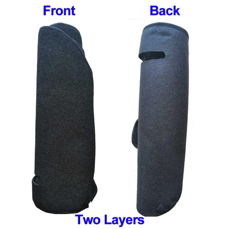 2 طبقات السيارات السيارات الداخلية لوحة القيادة غطاء داشمات سادة السجاد داش حصيرة لتويوتا لاند كروزر برادو J120 2003-2008 2009 LHD RHD