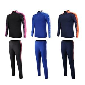 Image 5 - Erkek sonbahar kış erkek futbol eşofman uzun kollu ceket futbol forması koşu futbol eğitimi takım elbise oyuncular spor