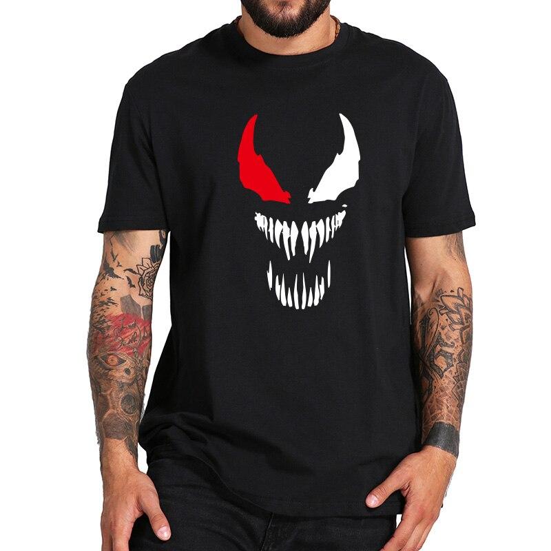 Venom Maglietta Fresco Del Fumetto Bad Sturky Supereroe T-Shirt Da Uomo Cotone Streetwear Pantaloni A Vita Bassa Tee Magliette e camicette Formato di UE Harajuku