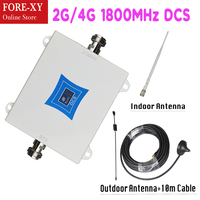 2G 4G LTE 1800 Cell Phone Signal Booster GSM 1800MHz Mobile Phone Repeater Cellphone Cellular Amplifier 4G Antenna booster kits