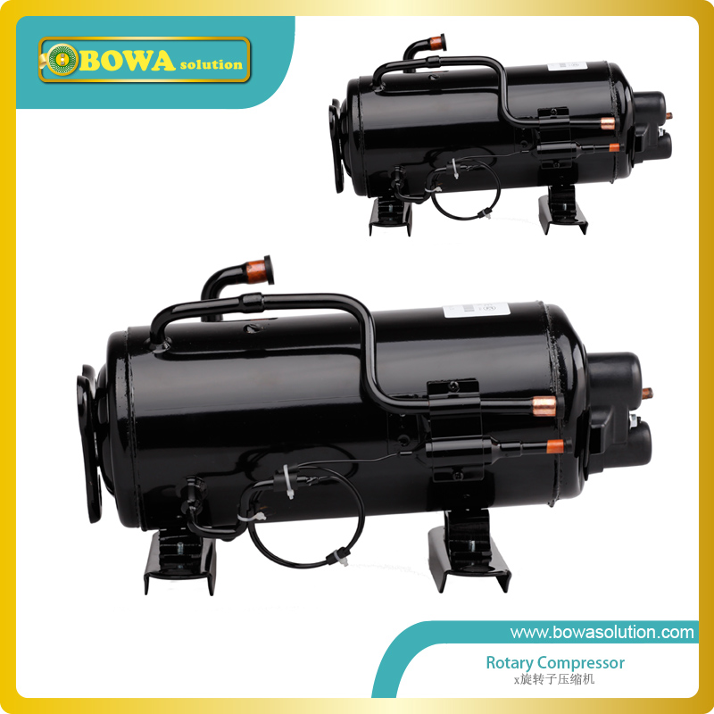 1.5HP Horizontal rotary compressor for wall chiller 490w cooling capacity vertical rotary compressor r134a suitable for beer chiller and mini water chiller