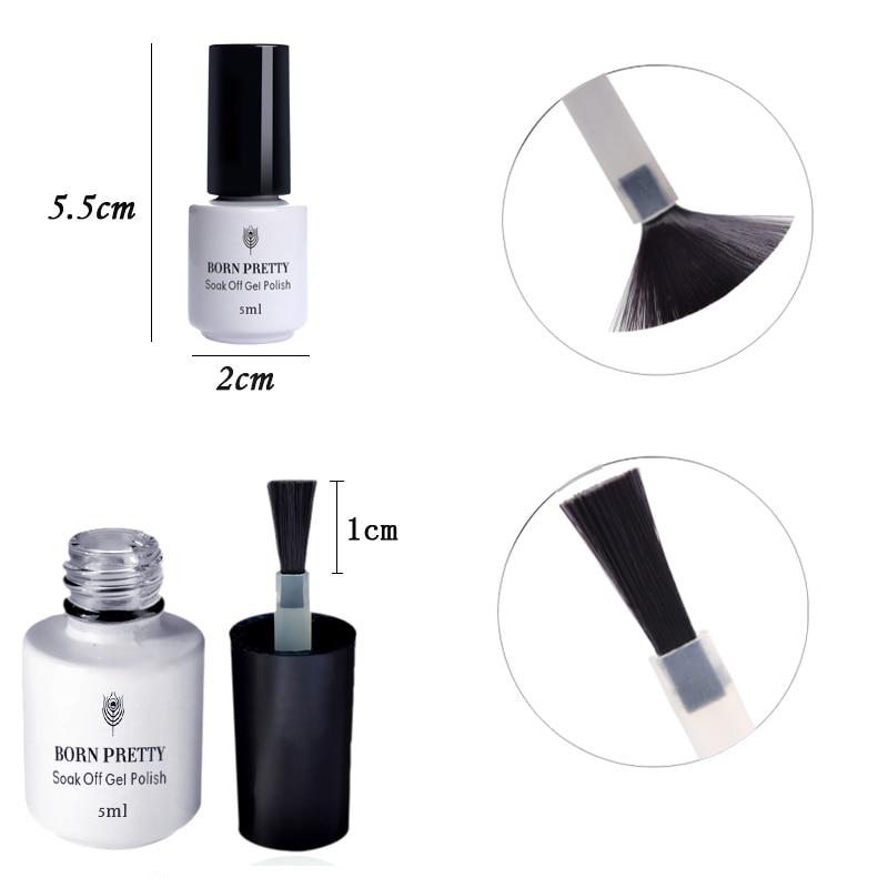NACIDO PRETTY 5 ml Mate Top Coat Nail Gel Polish No Wipe Soak Off UV - Arte de uñas - foto 3