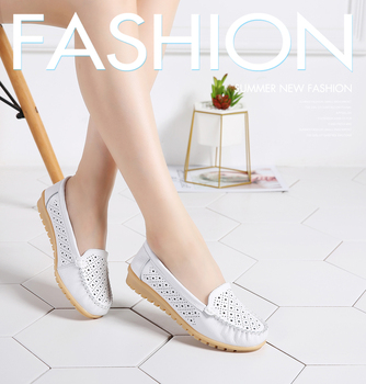 Loafers shoes for Women genuine leather shoes