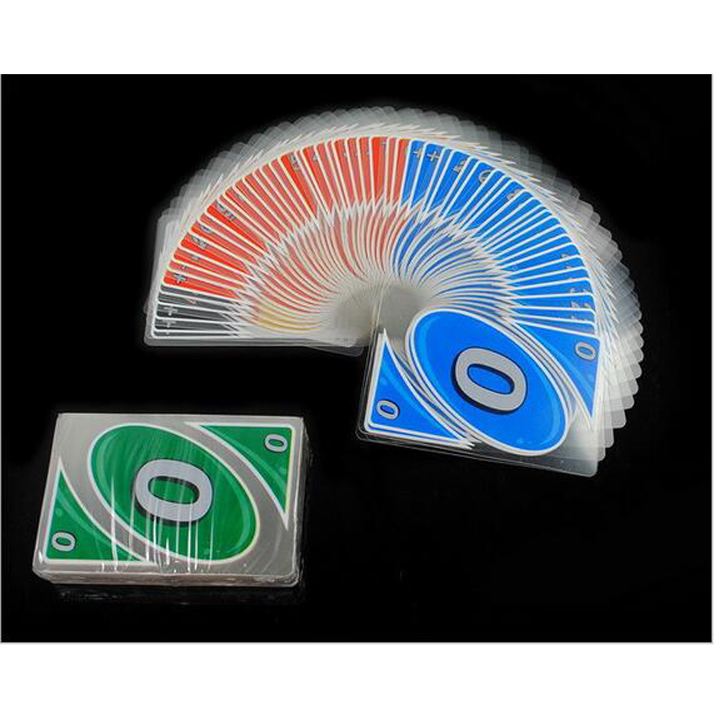 UNO Playing Cards Crystal Card Punishment Transparent Version Waterproof Best Quality Version Board Game цена