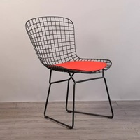 Free shipping U BEST Metal Wire Mesh Chair Hollow Negotiation Chair Backrest Chair Creative Simple Iron Dining Chair