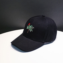 Embroidery Baseball Cap Women Men 100% Cotton Dad Coconut Tree Snapback hip hop Hat Trucker Gorras Casquette