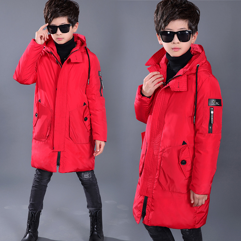 2017 New Boys Winter Coats Warm Casual Fashion Children Hooded Outerwear Boys Down Jackets 80% Duck Down Coats Parka -30 Degree